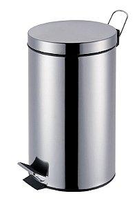 Lixeira 20 Litros Agata Em Aço Inox - Mor