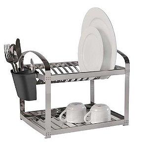 Escorredor para 12 Pratos Brinox Supremo 2099/112 em Aço Inox