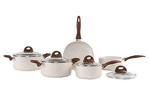 Conjunto de Panelas Brinox Ceramic Life 2.5 4740/110 Vanilla - 5 peças