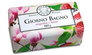 Sabonete em Barra Magnolia e Lichia 180g - Giorno Bagno