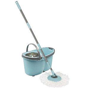 Esfregão Mop com Rodinhas Limpeza Prática 8295