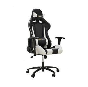 Cadeira Office Pro Gamer Preto e Branco