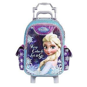 Mochila de Rodinhas Mochilete Escolar Grande Disney Frozen (37107)