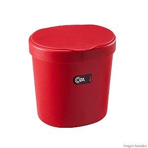 Lixeira para pia 2,5 Litros  Vermelho Pimenta   Coza 10906/0053