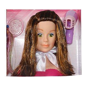 Boneca Belle My Model Cabelo Mecha Laranja Olhos Verde 897