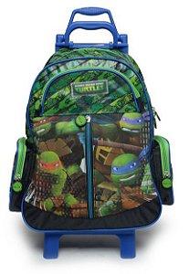 Mochilete Tartarugas Ninja G Ziper Frontal Verde 49123