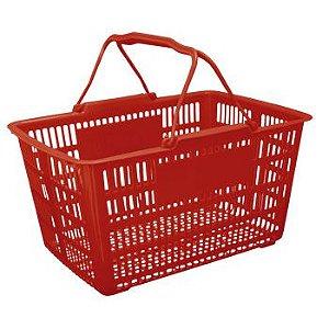 Cesta de compras Pratica Vermelha 43X31X24 Cm ref 223 Paramount