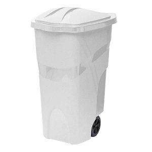 Lixeira com Rodas 120 Litros Branca ref 428 Paramount Plasticos
