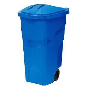 Lixeira com Rodas 120 Litros Azul ref 430 Paramount Plasticos