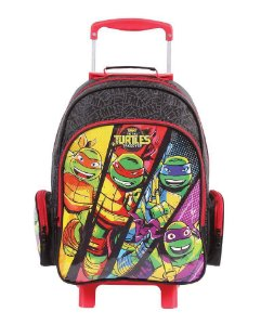Mochila de Rodinhas Mochilete Escolar Grande DMW Nickelodeon Tartarugas Ninja (49113)