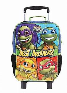 Mochila de Rodinhas Mochilete Escolar Grande DMW Nickelodeon Tartarugas Ninjas (49118)