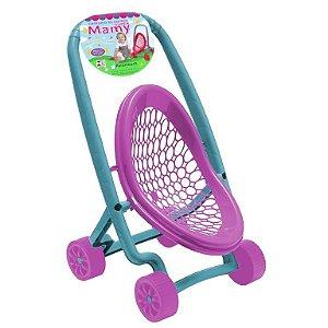 Carrinho De Boneca Super Mamy ref 512 - verde e rosa