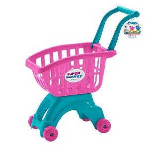 Carrinho de compras ref 691 - rosa e verde