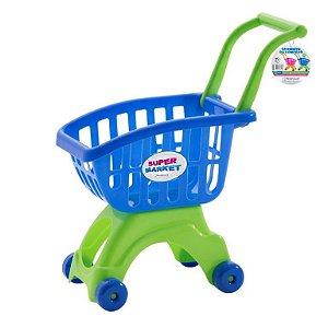 Carrinho de compras ref 691 - azul e verde