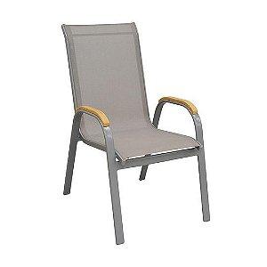 Cadeira Maresias Cinza Tela Cinza