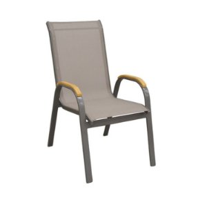 Cadeira Maresias Marrom Tela Bege