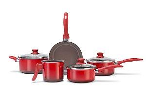 Conjunto de Panelas 5 Peças Ceramic Life Smart Vermelho 4789/100
