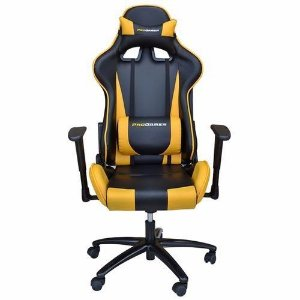 Cadeira Office Pro Gamer Preto e Amarelo