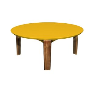 Mesa Hortência Grande Amarela + Base