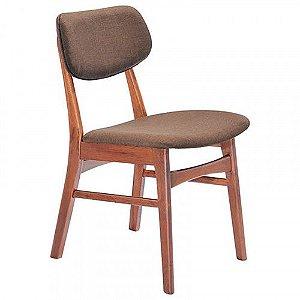 Cadeira Erica c/ Encosto Madeira Linho Marrom