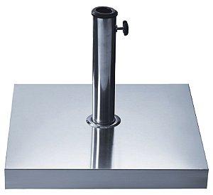 Base Quadrada para Ombrellone 30kg com Revestimento em Aço Inox 27500