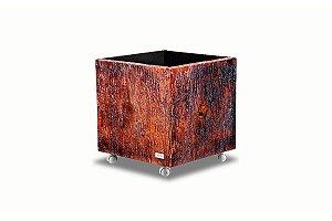 Cachepot Quadrado PU - Decorline Lixeiras 35 x 35 cm 3092/200