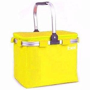 Bolsa Cooler Térmica 24 Latas c/ Alça de Alúminio Amarelo 52600