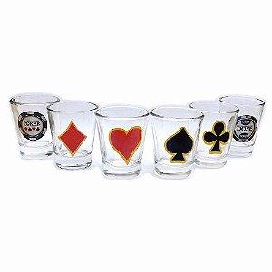 Poker Shot - 6 peças Copos de Shot