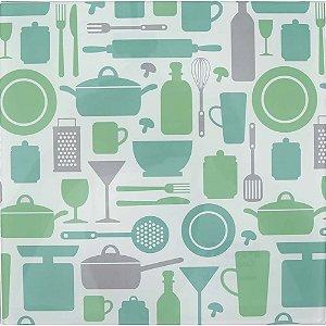Apoio para Panela Vidro Temperado - Doce Cozinha Verde
