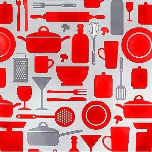 Apoio para Panela Vidro Temperado - Doce Cozinha Vermelho