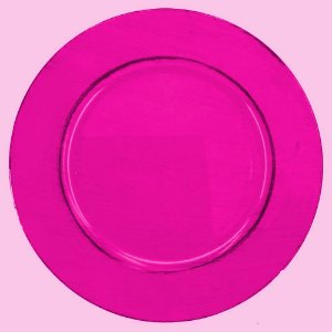Sousplat Plastico Circle Pink 33x1,5cm (24397)