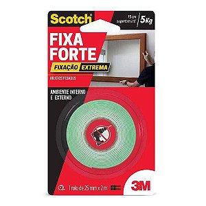 Fita Dupla Face Fixa Forte Espuma Interno e Externo 25mmx2m Extrema CM0481(P) - 3M