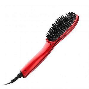 Escova Alisadora Beauty Vermelha Bivolt Multilaser - EB10