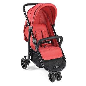 Carrinho de Bebê Jogger 3 Rodas Jogger Weego Vermelho - 4019