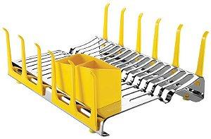 Escorredor de louças aço inox Amarelo 61535/580