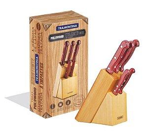 Jogo de facas Polywood 6 peças - Tramontina 21199/783