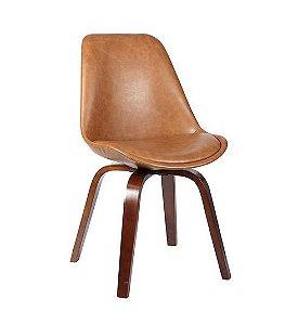 Cadeira Lis Pu Marrom