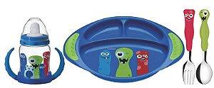 Kit Utensílios infantil Monsterbaby 4 peças - 23799/198