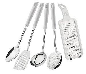 Jogo de utensílios Easy 5 peças Branco - 25299/804