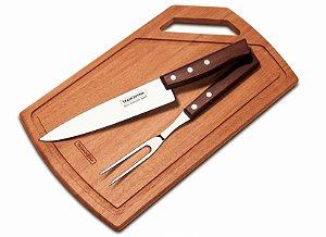 Kit para churrasco 3 peças Tradicional - 22299/046