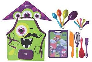 Kit de Utensílios 16 peças - MonsterChef  Tramontina Kids
