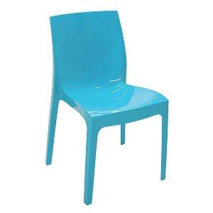 Cadeira Alice azul brilhosa 92037/070