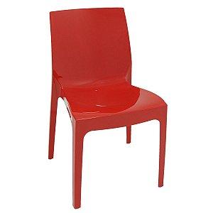 Cadeira Alice vermelha brilhosa 92037/040