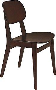 Cadeira sem braços de Madeira London Tabaco 14060/410