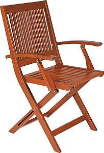 Cadeira FITT de madeira com braços Tramontina- 10872/076