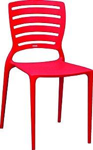Cadeira Sofia Vermelha encosto vazado s/braço 92237/040 Tramontina