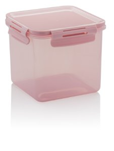 Pote Click Quadrado 1500ml Rosa CL 2200