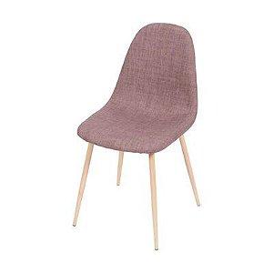 Cadeira Tânia Marrom com Base Clara - Or 1112