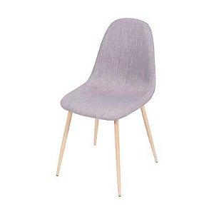Cadeira Tânia Cinza com Base Clara - Or 1112