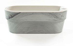 Hortinha Autoirrigável Cinza Concreto e Bege - Ccf HT180